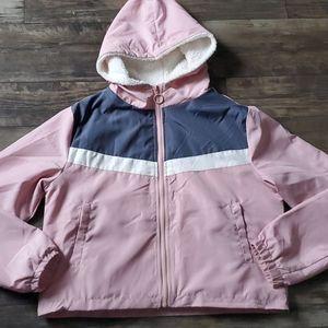 Love + Joy by FCT Colorblock Sherpa Lined Jacket